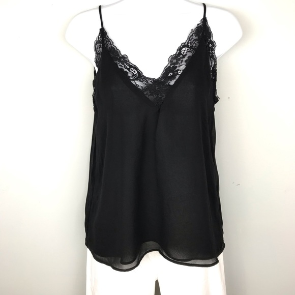 21d53262 Zara Tops | Collection Lined Black Lace Camisole Size Xs | Poshmark